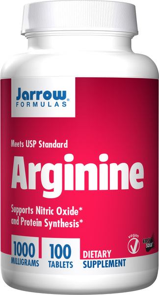 Jarrow Formulas L-Arginine, 1000mg – 100 Tablets