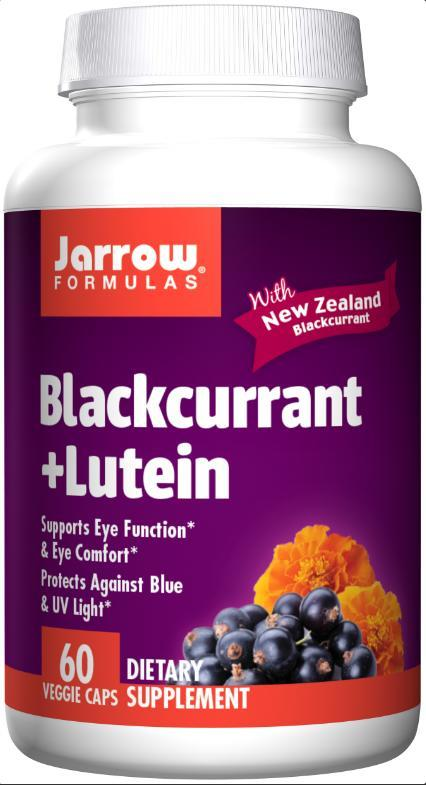 Jarrow Formulas Blackcurrant + Lutein, 200 mg – 60 Veg Caps
