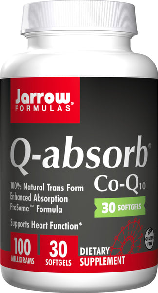 Jarrow Formulas Q-absorb CoQ10, 100mg – 30 Softgels