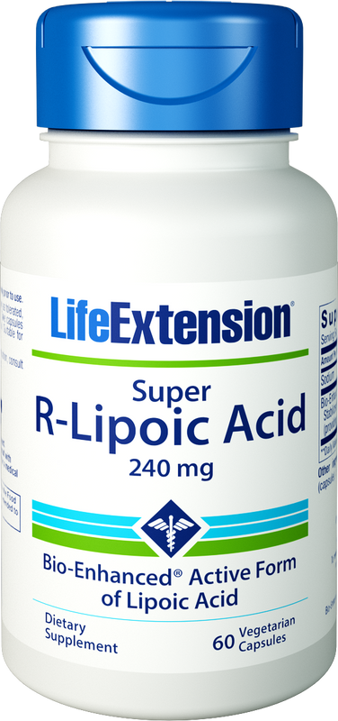 Life Extension Super R-Lipoic Acid, 240 mg 60 Veg Capsules