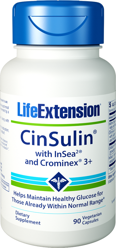 Life Extension CinSulin with InSea2 and Crominex 3+ 90 Vegetarian Capsules