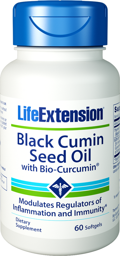 Life Extension Black Cumin Seed Oil with Bio-Curcumin 60 Softgels