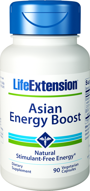 Life Extension Asian Energy Boost, 90 Veg Capsules