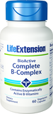 Life Extension BioActive Complete B-Complex – 60 Vegetarian Capsules