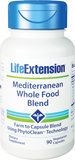 Life Extension Mediterranean Whole Food Blend – 90 Vegetarian Capsules