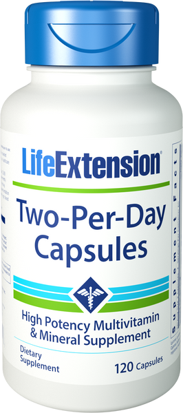 Life Extension Two-Per-Day Capsules, 120 capsules