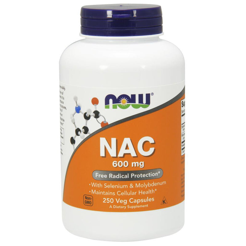 NOW Supplements NAC 600 mg - 250 Veg Capsules