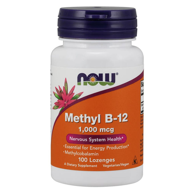 NOW Supplements Methyl B-12 1,000 mcg - 100 Lozenges