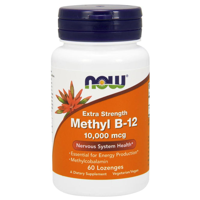 NOW Supplements Methyl B-12 10,000 mcg - 60 Loz.