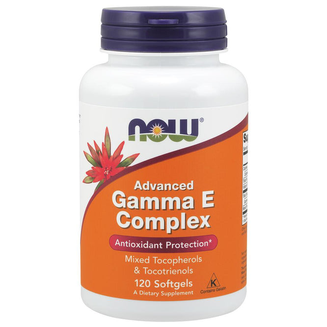 NOW Supplements Advanced Gamma E Complex - 120 Softgels