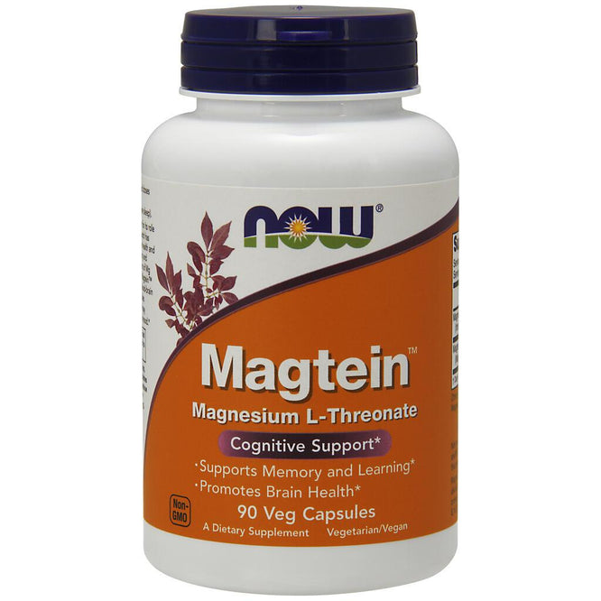 NOW Supplements Magtein™- 90 Veg Capsules