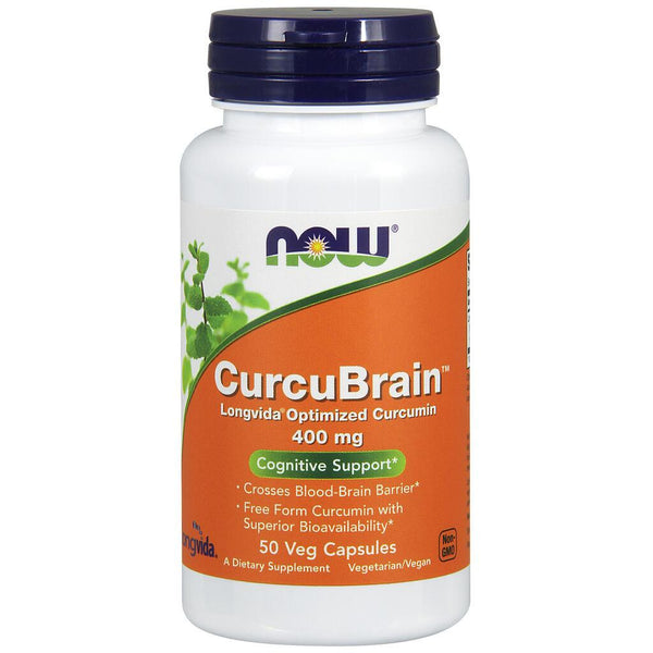 NOW Supplements CurcuBrain™ 400 mg - 50 Veg Capsules