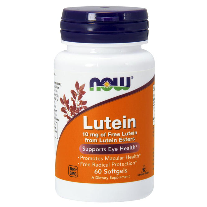 NOW Supplements Lutein 10 mg - 60 Softgels