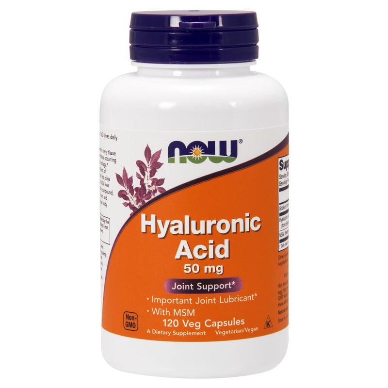 NOW Supplements Hyaluronic Acid with MSM – 120 Veg Capsules