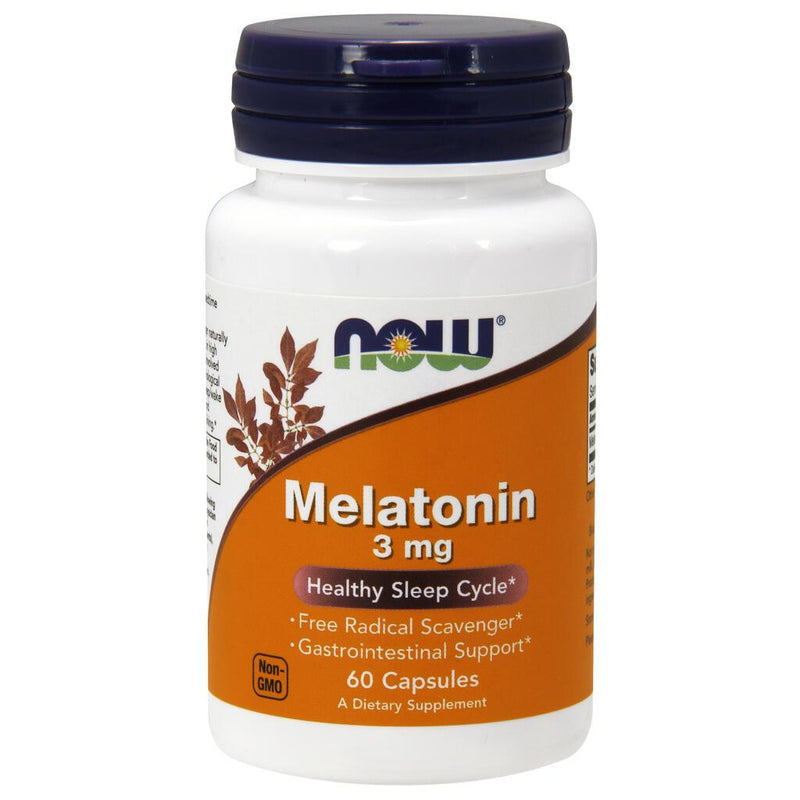 NOW Supplements Melatonin 3 mg - 60 Veg Capsules