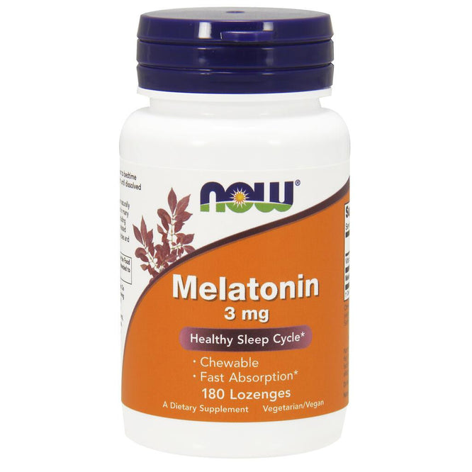 NOW Supplements Melatonin 3 mg – 180 Lozenges