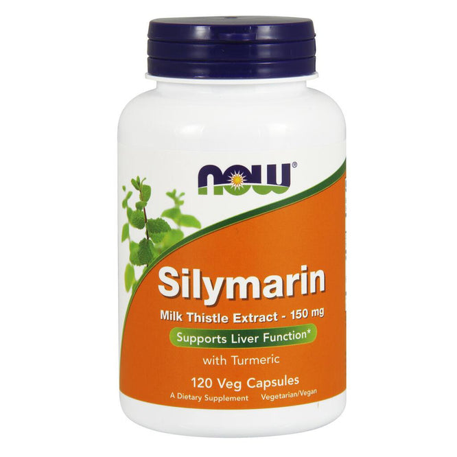 NOW Supplements Silymarin Milk Thistle Extract 150 mg - 120 Veg Capsules