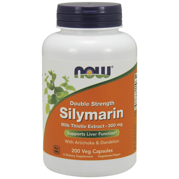 NOW Supplements Double Strength Silymarin with Thistle Extract – 200 Veg Capsules