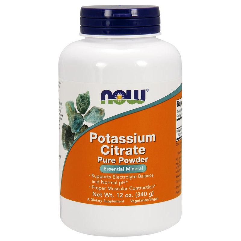 NOW Supplements Potassium Citrate Powder - 12 oz.