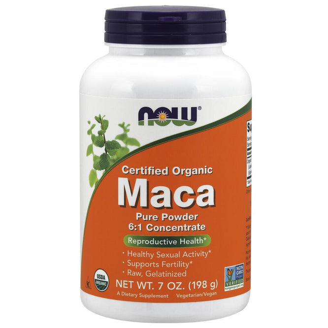 NOW Supplements Maca Pure Powder, Organic - 7 oz.