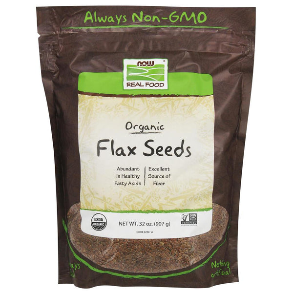 NOW Real Food Flax Seeds, Organics – 2 lbs.