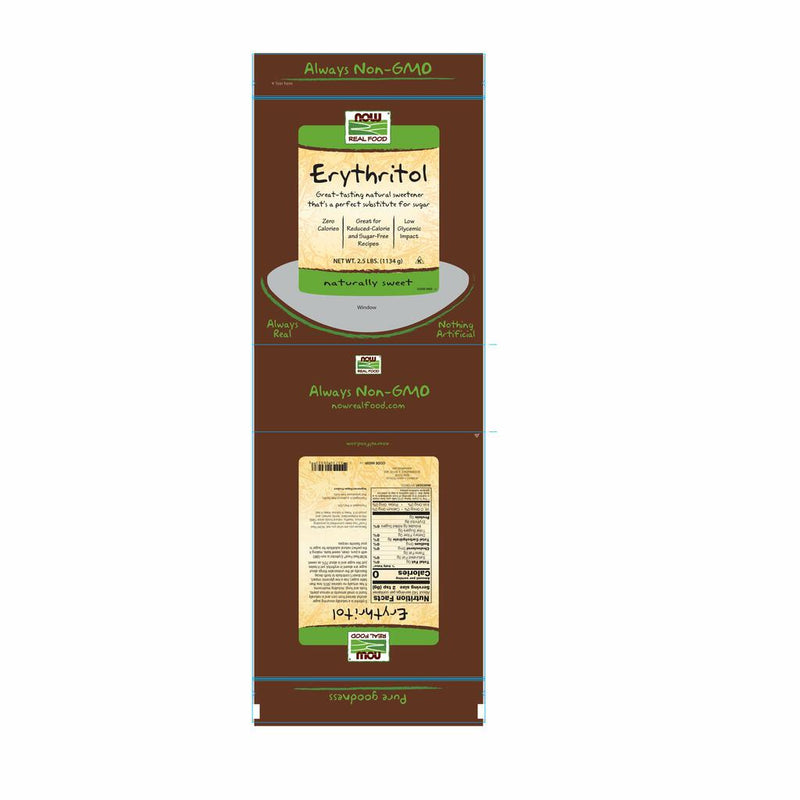 NOW Real Food Erythritol – 1 lb.