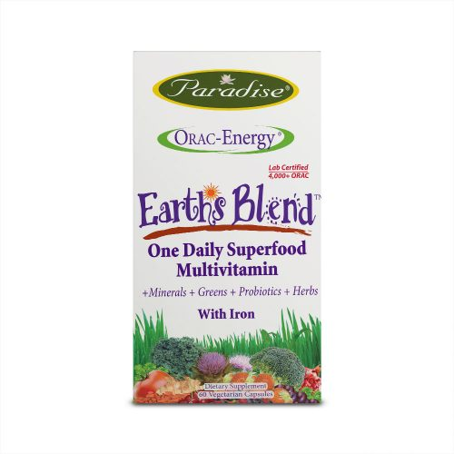 Paradise Herbs Earth Blend, Superfood Multivitamin – 60 Vegetarian Capsules