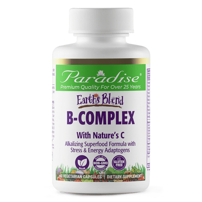 Paradise Herbs Earth's Blend B-Complex - 60 Vegetarian Capsules