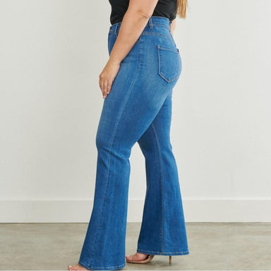 Posh Shoppe: Full Length Flare Jeans Bottoms