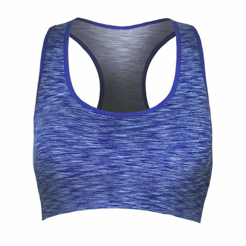 Plus Size Space Dyed Sports Bra, Blue