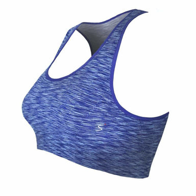 Posh Shoppe: Plus Size Space Dyed Sports Bra, Blue Tops