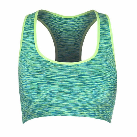 Plus Size Space Dyed Sports Bra, Green