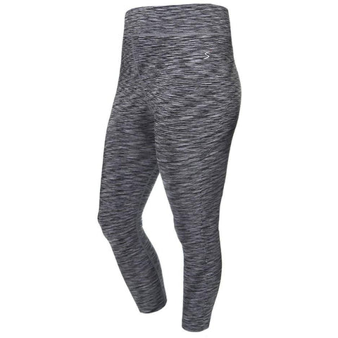 Plus Size Space Dyed Active Capris, Gray