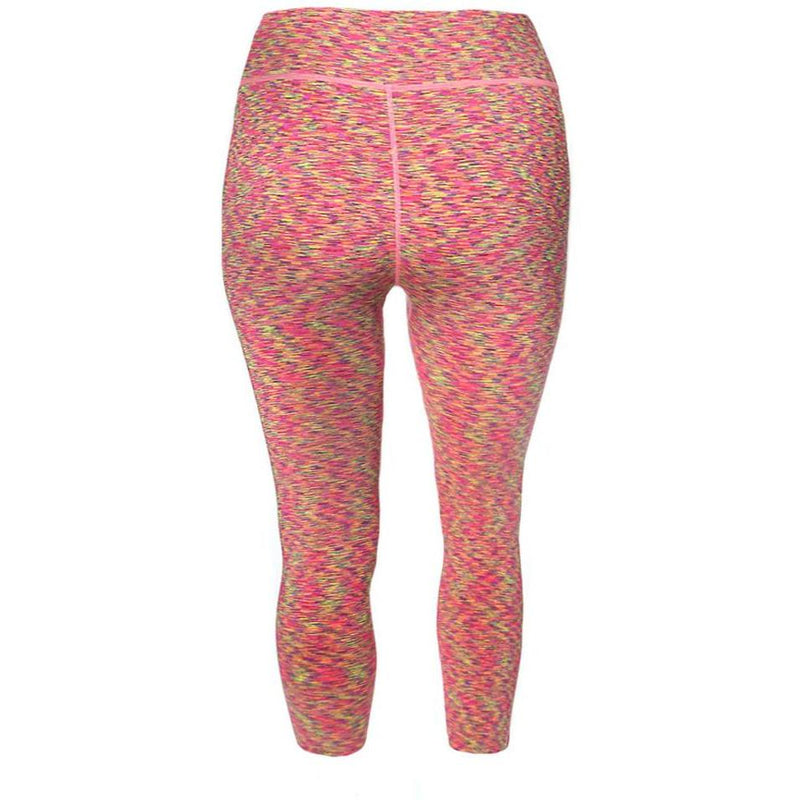 Posh Shoppe: Plus Size Space Dyed Active Capris, Pink Bottoms