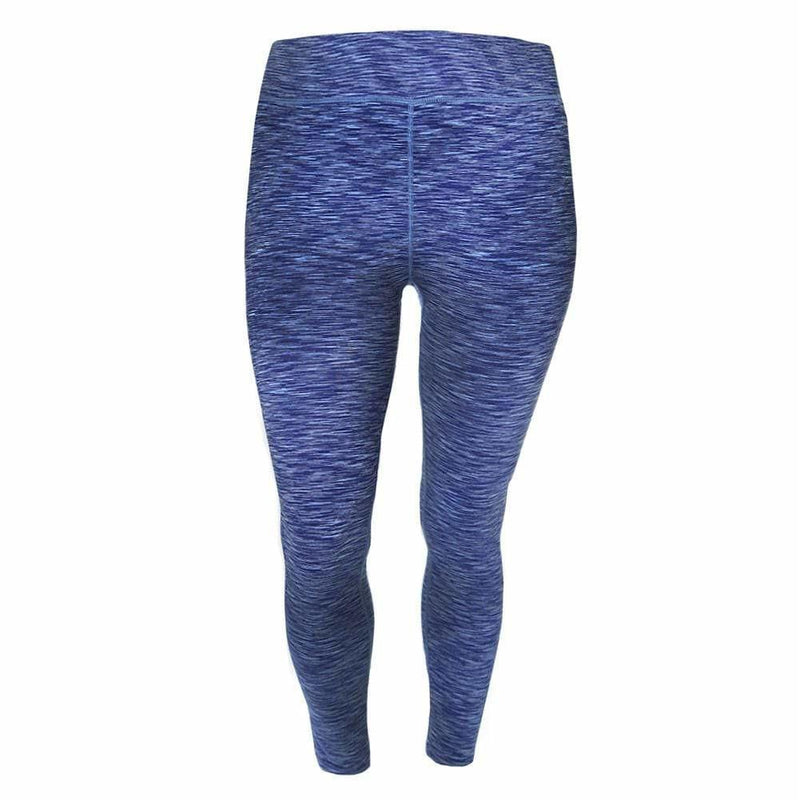 Posh Shoppe: Plus Size Space Dyed Active Pants, Blue Bottoms