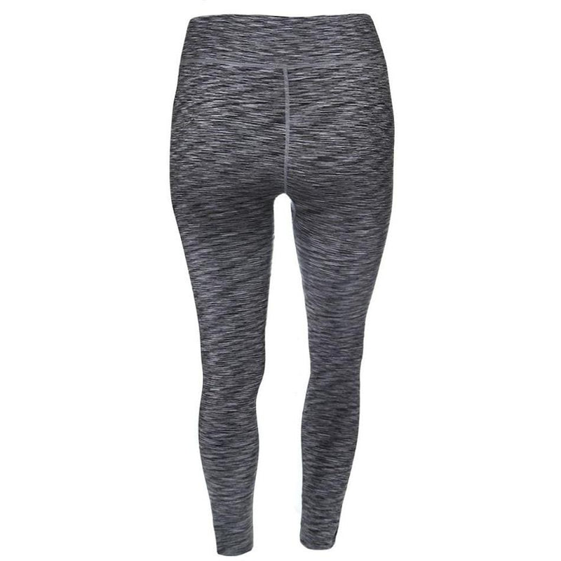 Posh Shoppe: Plus Size Space Dyed Active Pants, Gray Bottoms