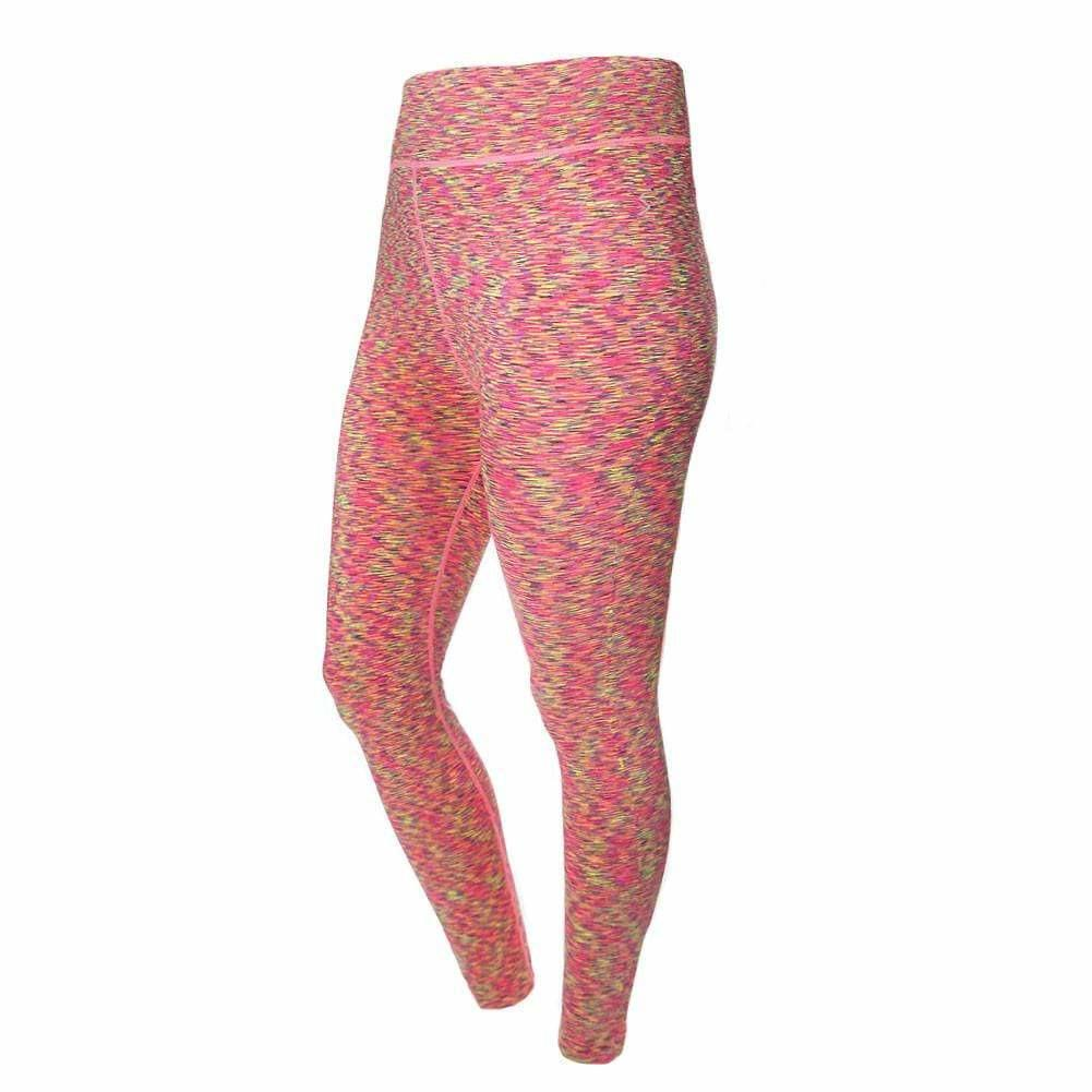 Posh Shoppe: Plus Size Space Dyed Active Pants, Pink Bottoms