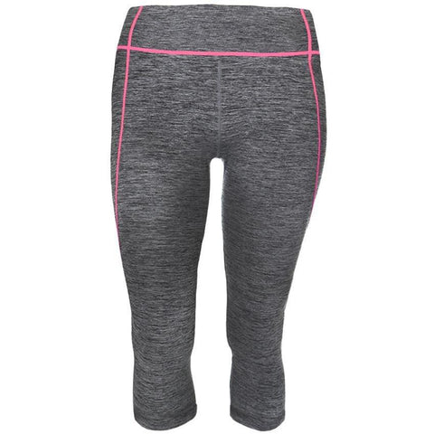 Plus Size Active Capris, Space Dyed with Coral Trim