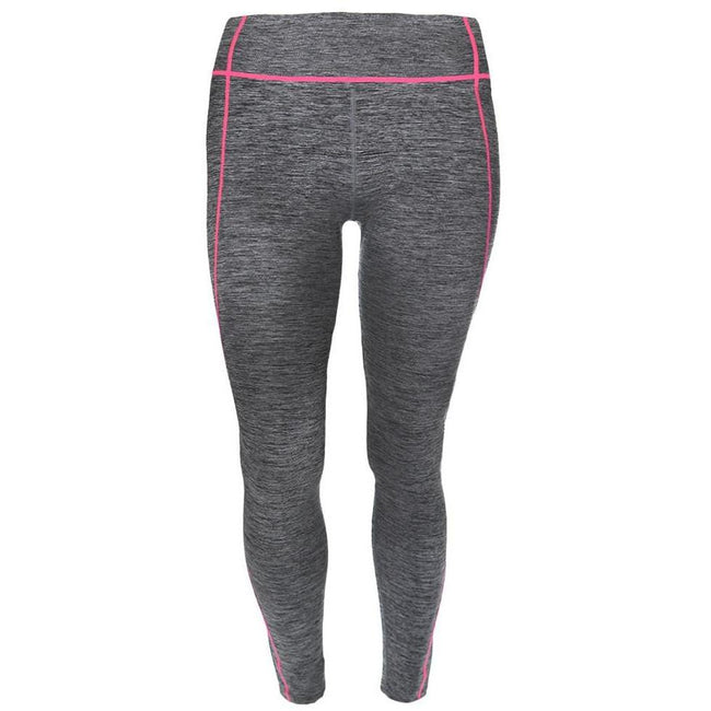 Posh Shoppe: Plus Size Active Leggings, Space Dyed with Coral Trim Bottoms