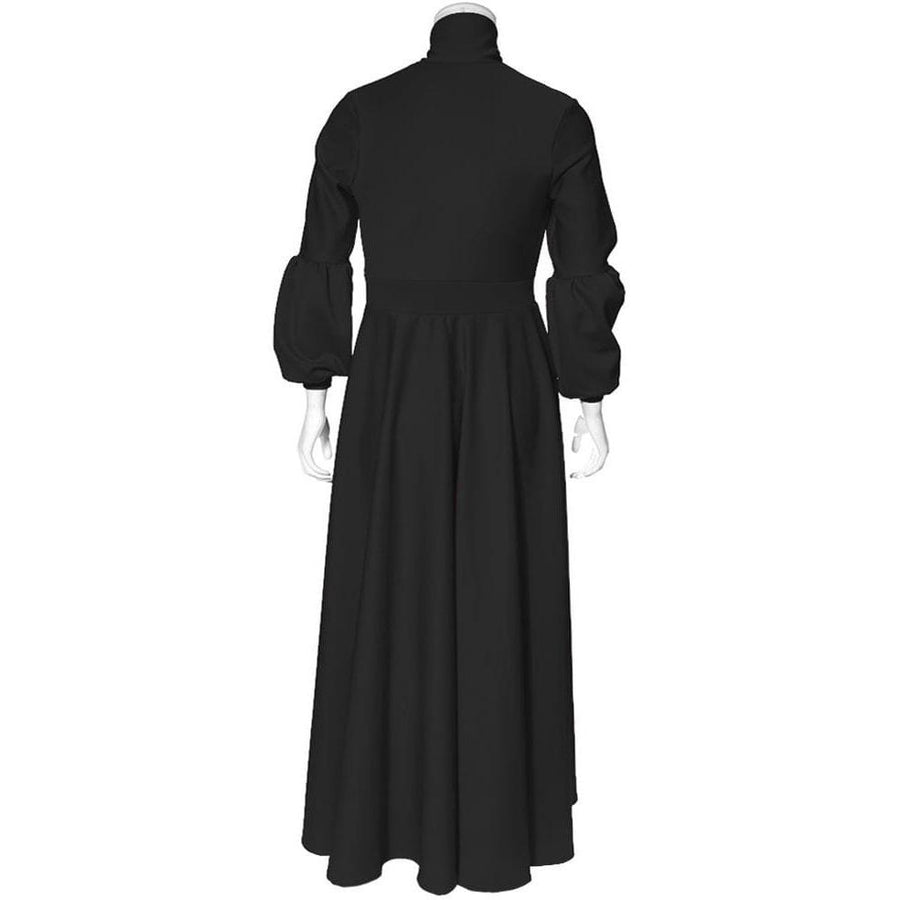 0c01e9c1e053d Plus Size Puff Sleeve Maxi Dress with Tie Neck, Black – Posh Shoppe