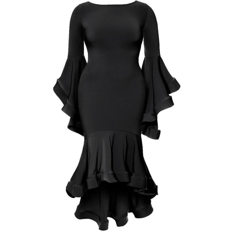 Plus Size Off Shoulder Lace Insert Mini LBD