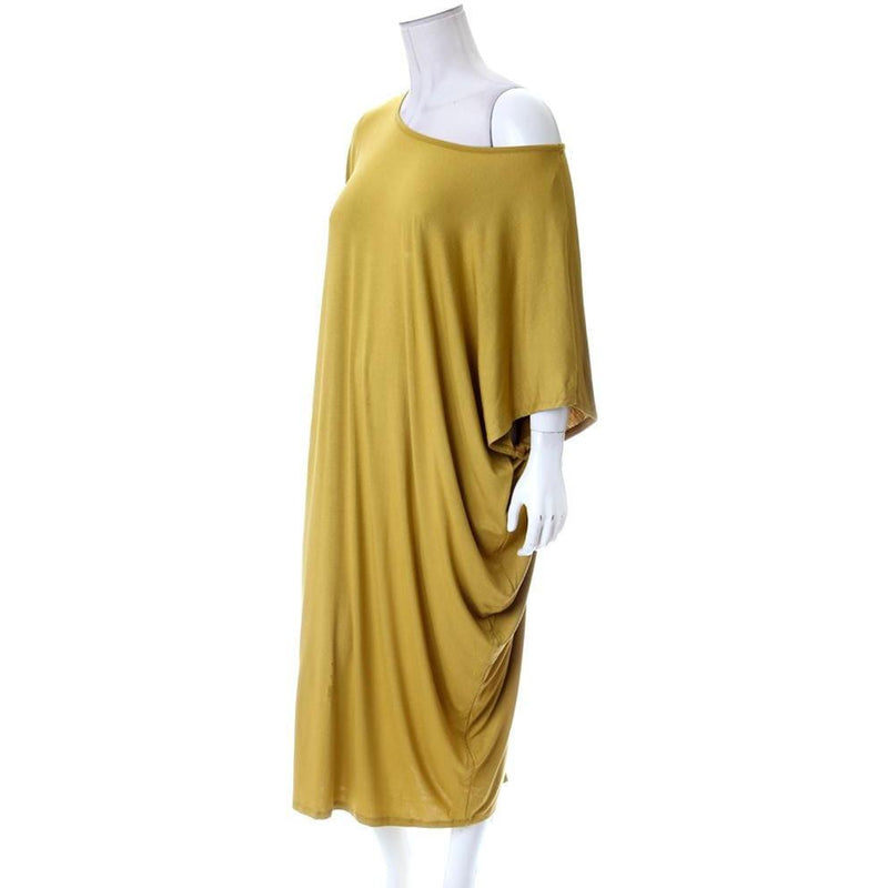 Posh Shoppe: Plus Size Off Shoulder Bias Tunic, Citron Dress