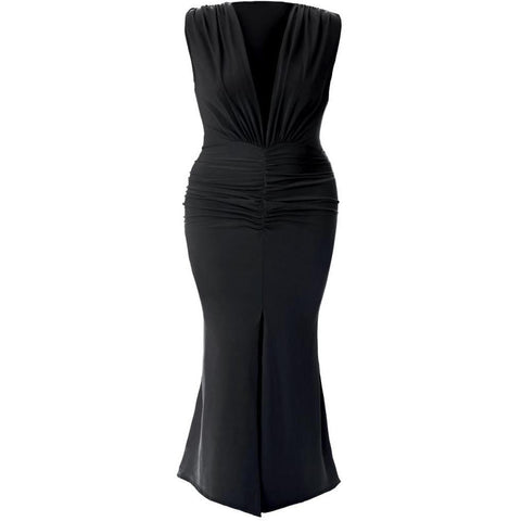 Plus Size One Shoulder Ruffle Maxi
