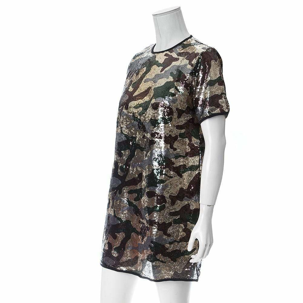 0772c148e5433 Plus Size Sequins Camo T-Shirt Dress – Posh Shoppe