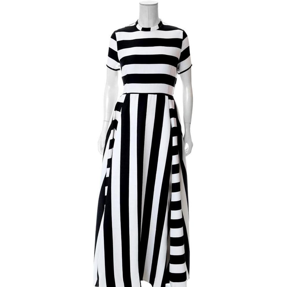 Posh Shoppe: Plus Size Striped Suiting Maxi Dress Dress