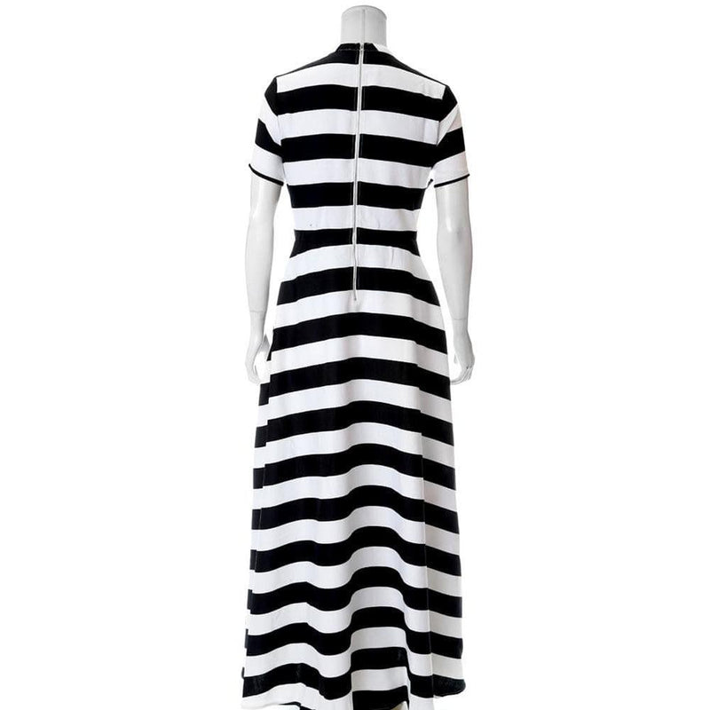 Plus Size Striped Suiting Maxi Dress