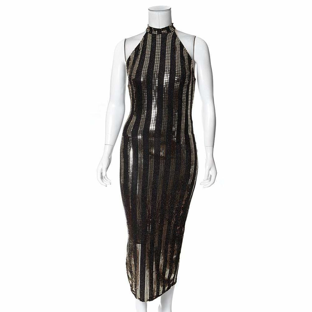 Plus Size Metallic Knit Dress