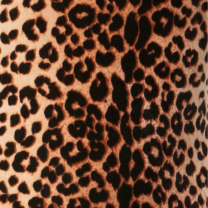 Plus Size Velvet Animal Print Mini