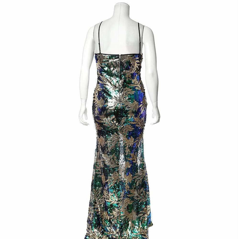 Plus Size Sequin Mermaid Evening Gown
