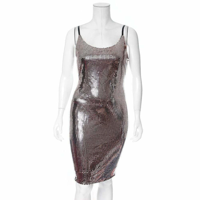 Plus Size Rose Gold Mirrored Dress